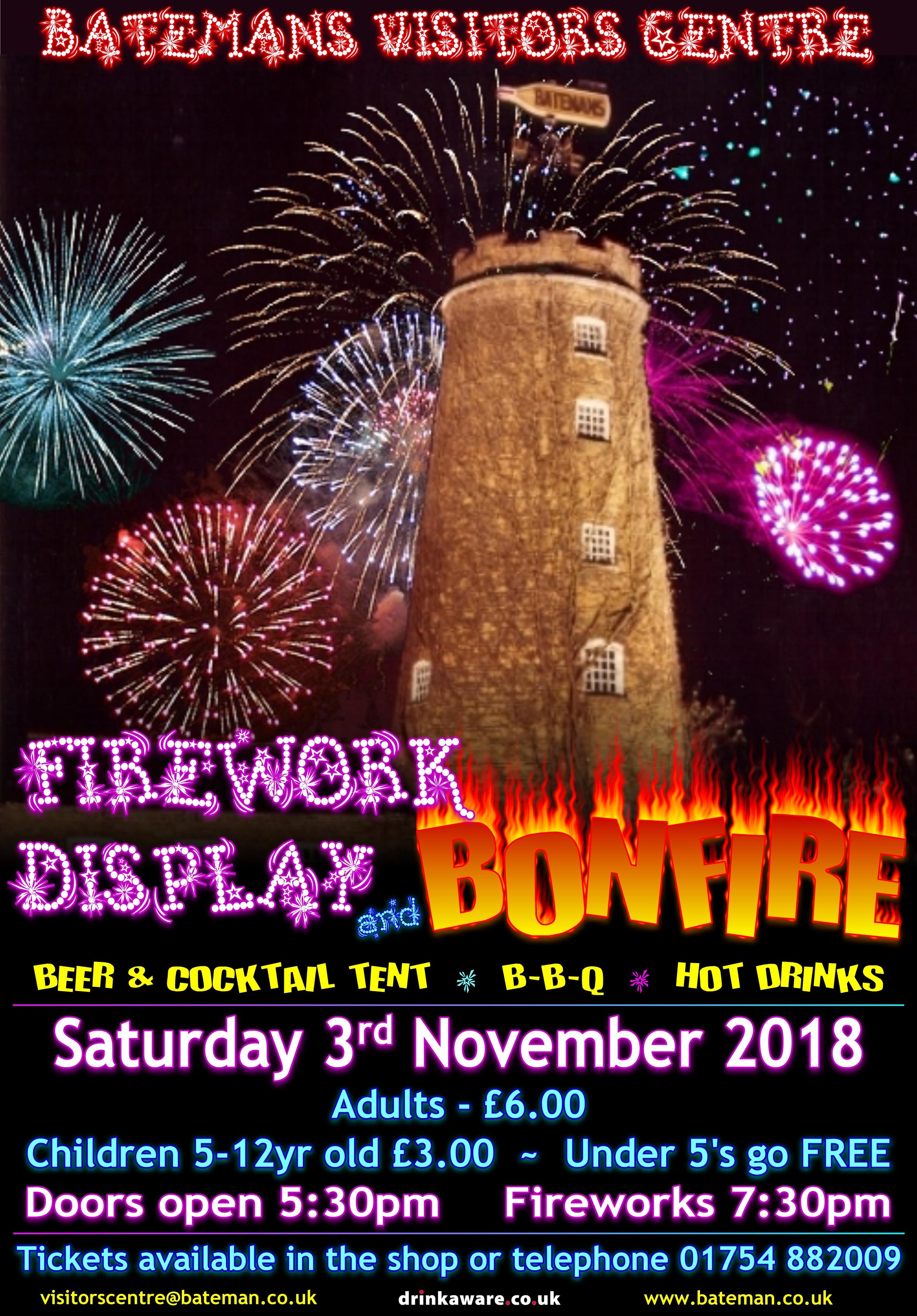 fireworks display and bonfire night batemans
